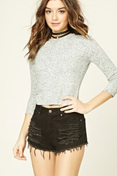 Forever 21 Fleece Crop Top