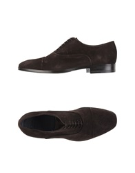 Iceberg Lace Up Shoes Dark Brown