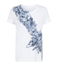 Escada Sport Abstract Print T Shirt Female White