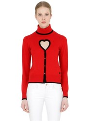 Love Moschino Wool Blend Knit Cardigan