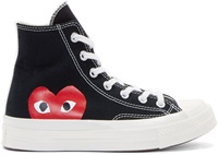Comme Des Garcons Black Heart Logo Converse Edition High Top Sneakers