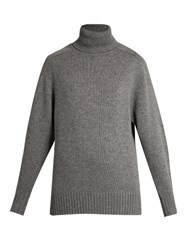 Chloe Roll Neck Cashmere Sweater Dark Grey