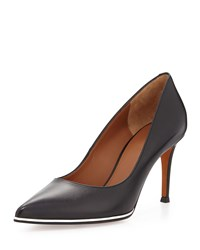 Leather Pointed Toe Pump Black Givenchy