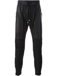Unconditional Tapered Biker Trousers Black