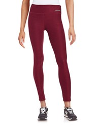 Bench Textured Knit Leggings Burgundy