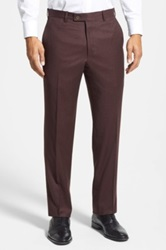 Duckie Brown Flat Front Wool Trouser Red