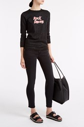 Bella Freud Rock Dreams Metallic Jumper Black