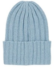 The Elder Statesman Women's Bunny Echo Cashmere Beanie Light Blue
