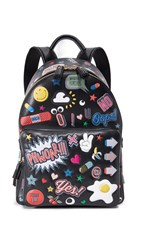 Anya Hindmarch Allover Wink Stickers Backpack Black