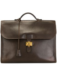 Hermes Vintage 'Sac A Depeches' Briefcase Brown