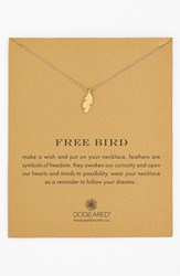 Women's Dogeared 'Reminder Free Bird' Feather Necklace Gold Dipped