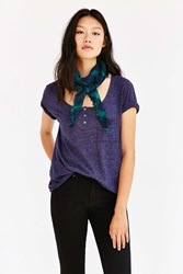 Truly Madly Deeply Henley Tee Navy