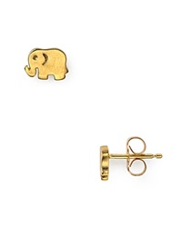 Dogeared Little Elephant Earrings Gold