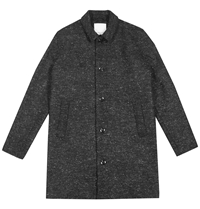 Samsoe And Samsoe Bandit Coat In Black Melange Huh. Store