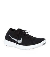 Nike Free Rn Motion Flyknit Running Shoes Female Black