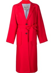 Sea Single Breasted Coat Red