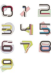 Proenza Schouler Number Enameled Brooches