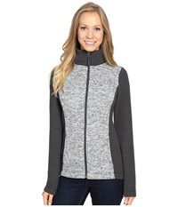 The North Face Indi Full Zip Jacket Lunar Ice Grey Heather Asphalt Grey Women's Coat Gray
