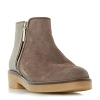 Dune Portland Crepe Sole Ankle Boots Grey