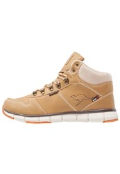 Kangaroos Kbluerun 8023 Hightop Trainers Wheat Sand