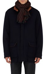 Barneys New York Men's Pinstriped Cashmere Scarf Red