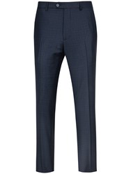 Ted Baker Hopskit Micro Check Modern Fit Suit Trousers Teal
