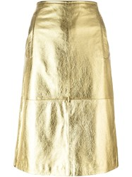 L'autre Chose Pencil Skirt Metallic