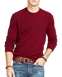 Polo Ralph Lauren Merino Wool Cashmere Sweater Classic Wine