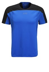 Gore Running Wear Fusion Sports Shirt Brilliant Blue Black