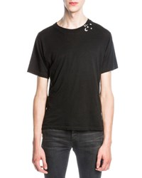 Saint Laurent Punk Rock T Shirt Black
