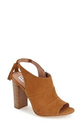 Women's Halogen 'Willow' Sandal Camel Suede