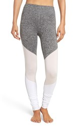 Free People Women's 'Intuition' High Waist Colorblock Leggings Grey Combo