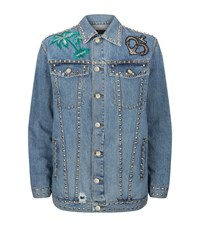 Pinko Studded Denim Jacket Female Blue