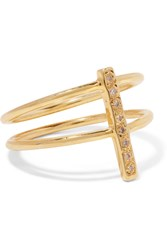 Scosha Fiesta Gold Tone Diamond Ring