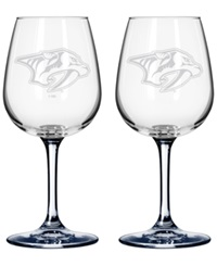 Boelter Brands Nashville Predators 2 Pack 16 Oz. Wine Glass