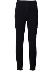 Neil Barrett Criss Cross Front Skinny Trousers Black