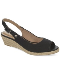 Life Stride Lift Wedge Sandals Women's Shoes Black
