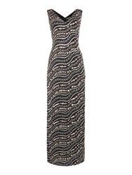 Biba Embellished Column Maxi Dress Black