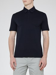 Reiss Wilkins Patch Pocket Polo Shirt Navy