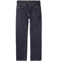 Levi's 1947 501 Rinsed Regular Fit Selvedge Denim Jeans Blue