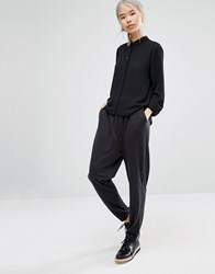 Monki Relaxed Slouch Trouser Black