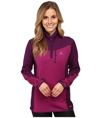 Salomon Atlantis Half Zip Aster Purple Cosmic Purple Women's Clothing Pink