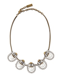 Auden Lana Crystal Pearl Station Necklace