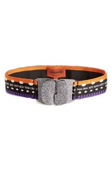 Missoni Women's Metallic Buckle Knit Belt