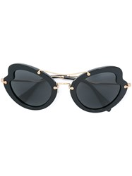 Miu Miu Eyewear Oversized Tinted Sunglasses Black