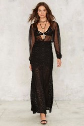 Sheer And Dear Maxi Skirt Black