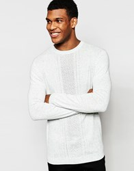 Asos Cable Knit Jumper In Mint Green Cotton Green