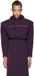 Vetements Ssense Exclusive Purple 'Sexual Fantasies' Football Shoulder Hoodie