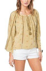 O'neill Women's Adelyn Ladder Stitch Peasant Top