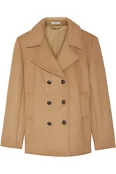 Tomas Maier Double Breasted Wool Blend Coat Camel